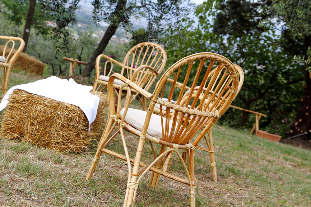 Wicker and chairs